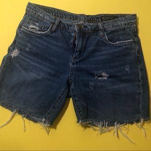 Blank nyc ludlow girlfriend cropped jean shorts